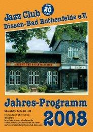 2008 - Jazz Club Dissen - Bad Rothenfelde eV