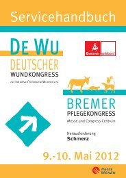 Servicehandbuch Pflege DeWu 2012 - Deutscher Wundkongress