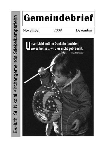 November / Dezember 2009