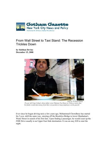 From Wall Street to Taxi Stand - New York City Coalition Against ...