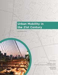 Urban Mobility in the 21st Century - NYU Wagner