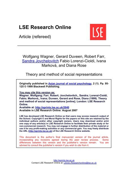 LSE Research Online - London School of Economics and