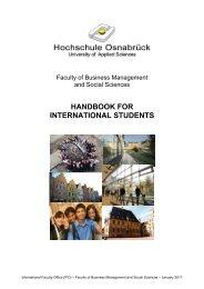 HANDBOOK FOR INTERNATIONAL STUDENTS
