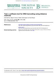 methods TaxI: a software tool for DNA barcoding using distance - Ning