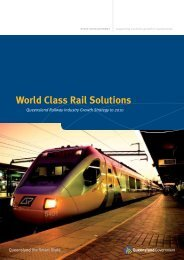 World Class Rail Solutions - Industry development - Queensland ...