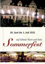 Sommerfest auf Schloss Thurn und Taxis - Phantasie und Garten