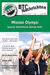 BTC Nachrichten Nr. 92 - August 2008 - Baukauer Turnclub in Herne