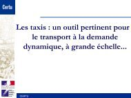 Les taxis : un outil pertinent pour le transport à la demande ...