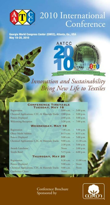 2010 International Conference - American Association of Textile ...