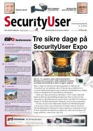 Tre sikre dage på SecurityUser Expo - SikkerhedsBranchen