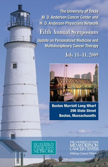 Fifth Annual Symposium Program - MD Anderson Cancer Center