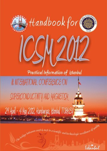 practical information booklet here. - ICSM 2012