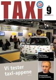 TAXI nr. 9/12 - Norges Taxiforbund