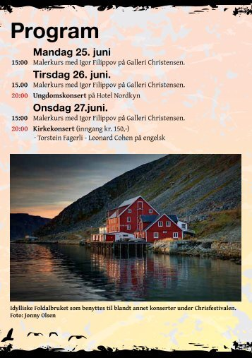 Program - Chrisfestivalen