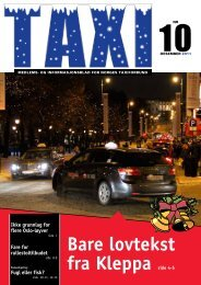 Taxi - Norges Taxiforbund