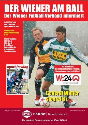 Bewerb - Wiener Fußball Verband