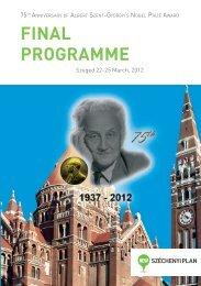 FINAL PROGRAMME - Szegedi Tudományegyetem