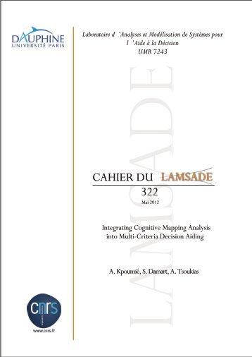 Analyses et Modélisation de Systèmes pour l - Lamsade - Université ...