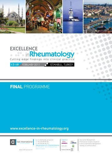 FINAL PROGRAMME - Excellence in Rheumatology