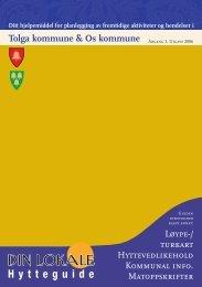 Hytteguide for Tolga (PDF) - Tolga kommune