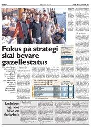 Fokus på strategi skal bevare gazellestatus - linkage.dk
