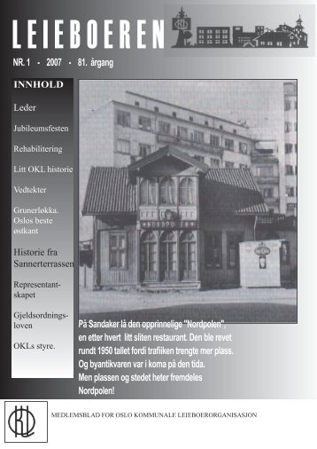 innhold - OSLO Kommunale Leieboerorganisasjon