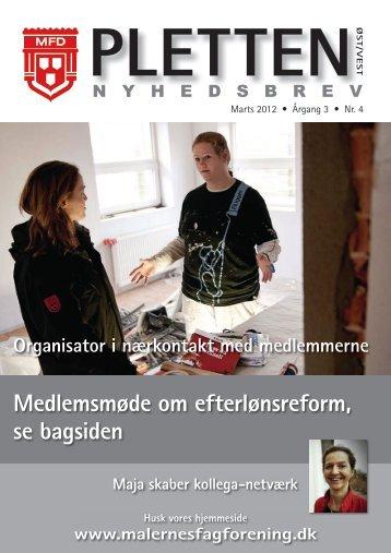 pletten - Velkommen - Malernes fagforening Øst/Vest