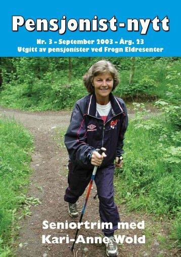 September 2003 - Pensjonist-nytt