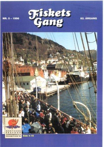 Fiskets Gang. Nr 5. 1996 - Havforskningsinstituttet
