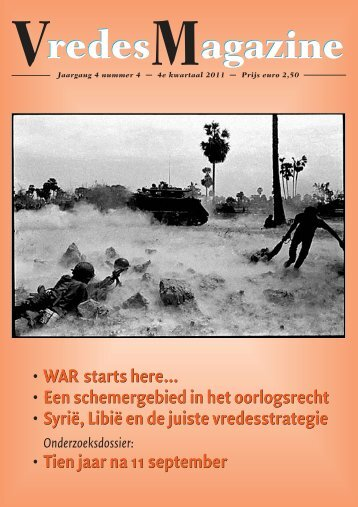 Jaargang 4, nummer 4 (pdf) - Vredesmagazine