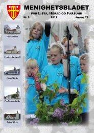 MENIGHETSBLADET - Kirkene i Farsund - Den norske kirke
