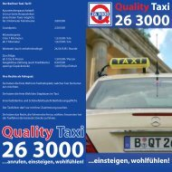 Kundenflyer (190 kB, PDF) - Quality Taxi 26 3000