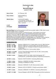 Curriculum vitae of Bernhard Mund - bmund.de