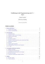 Programmierung I C++