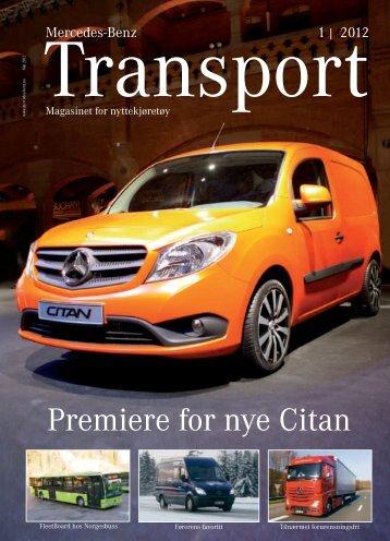 Transport 1/2012 - norsk kundemagasin - Mercedes Benz