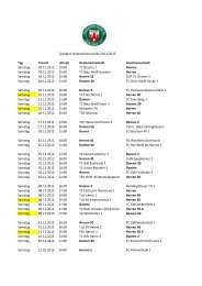 Spielplan Hallenwinterrunde - Tennisclub Unna 02