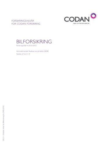BILFORSIKRING - Codan Forsikring