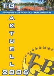 TG Aktuell 2006 - Tennisgemeinschaft Bisingen eV