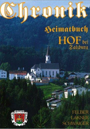 Gemeindechronik - Gemeinde Hof bei Salzburg
