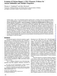 Evolution of Chicken Repeat 1 - Molecular Biology and Evolution