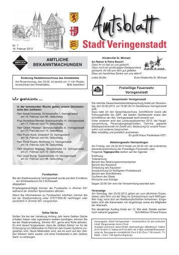 Stadt Veringenstadt Amtsblatt