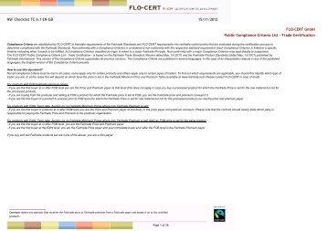 15/11/2012 NSF Checklist TC 6.1 EN-GB FLO-CERT GmbH Public ...