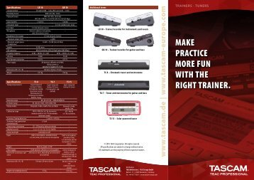 Tascam Trainers and Tuners: LR-10, GB-10, TC-8, TG-7, TC-1S