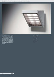 Variant Wall luminaires for compact fluorescent lamps or ...