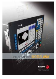 CNC FAGOR 8055 - Fagor Automation