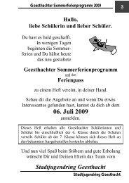 06. Juli 2009 - Stadtjugendring Geesthacht