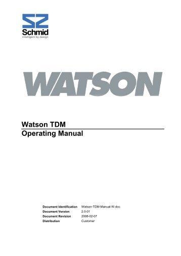 Watson 5 инструкция