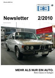 Newsletter 2/2010 - BMW E3-Limousinen Club e.V.