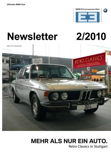 Newsletter 2/2010 - BMW E3-Limousinen Club e.V.