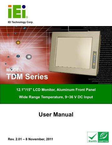 TDM Series Monitor - iEi